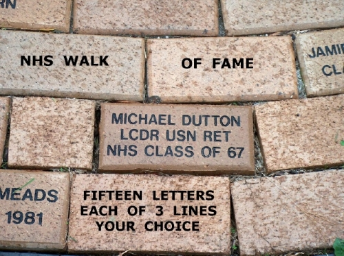 NHS Walk of Fame - Three lines or  Two lines your choice up-to fifteen characters on each line!!