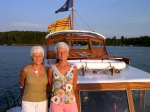 Gail and Donna Weber out on the foredeck, 4th of July, 2010