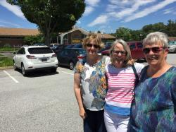 Part of the work party.  Nancy Hawthorne Wilson, Mary Ludlow Duket, and Gail Maclary Chickersky