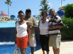 Nassau Bahamas.  Phyllis, Frank (Husband), Earlean (sister), Ron (brother-in-law)